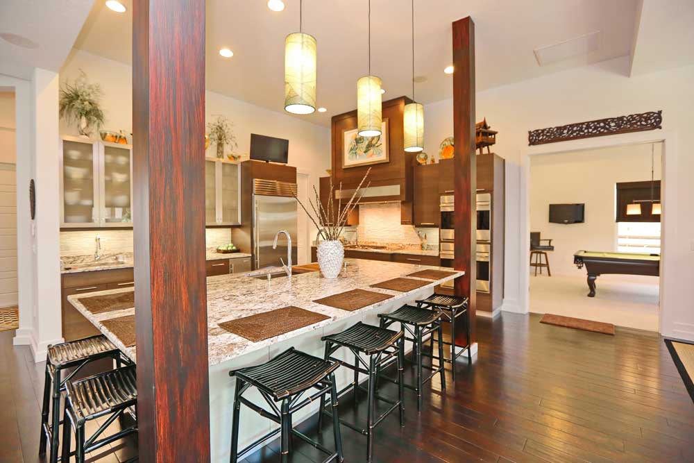 Phenomenal Kitchen Design with Custom Faux Finished Columns